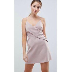 ASOS Petite Warp Shift Pink Dress